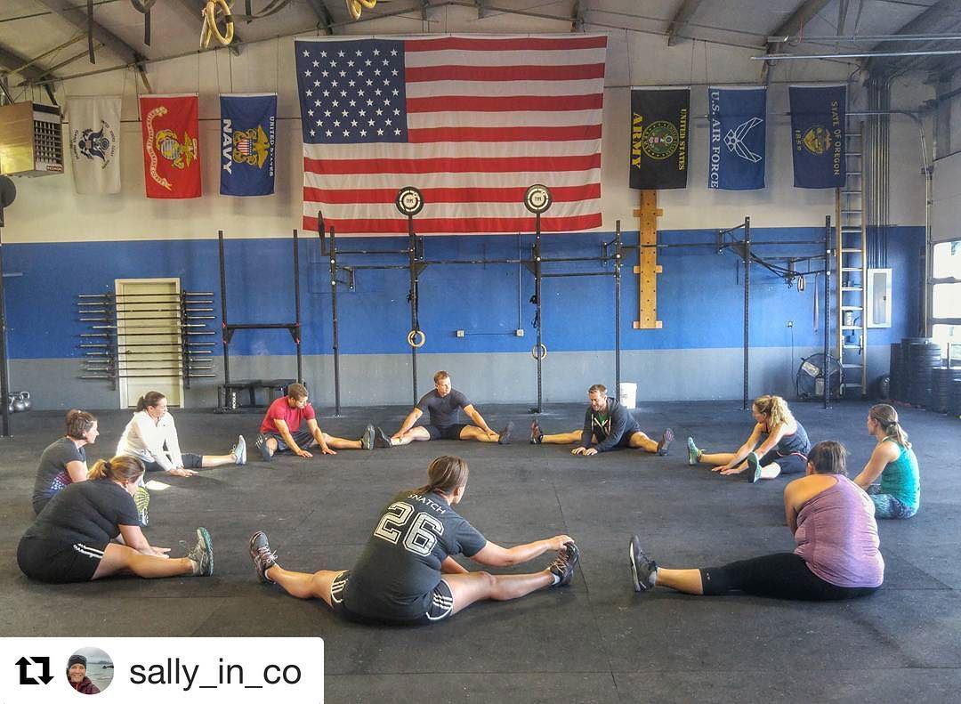"All the good things, 4:30p circle of trust.  #repost 📸: @sally_in_co ""Always a great crew, good times and hard work @type44crossfit. Love this family."" #type44strong #family #crossfit #inbend #centraloregon #reebok #romwod #type44"
