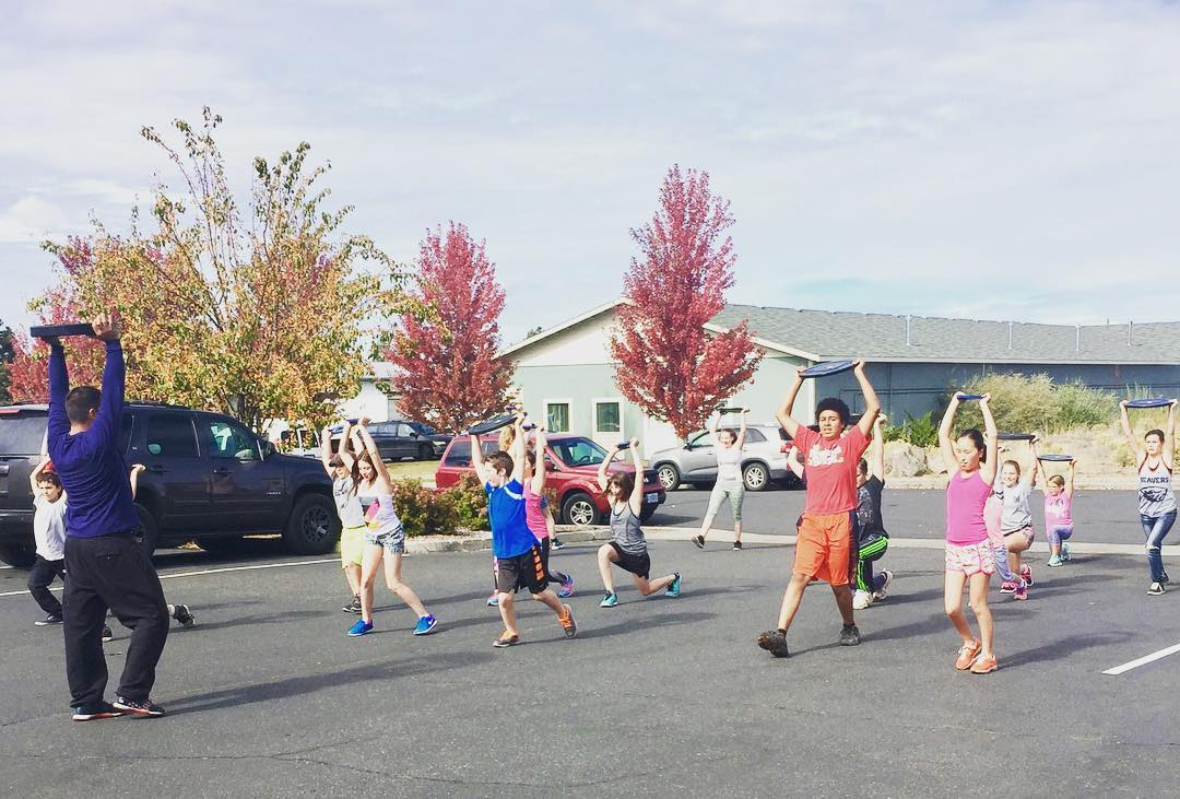 """Sometimes you will never know the value of a moment until it becomes a memory."" -Dr. Seuss  Coach Cruz with our CrossFit Youth class, today!  #type44strong #crossfit #type44 #inbend #centraloregon #crossfitkids"