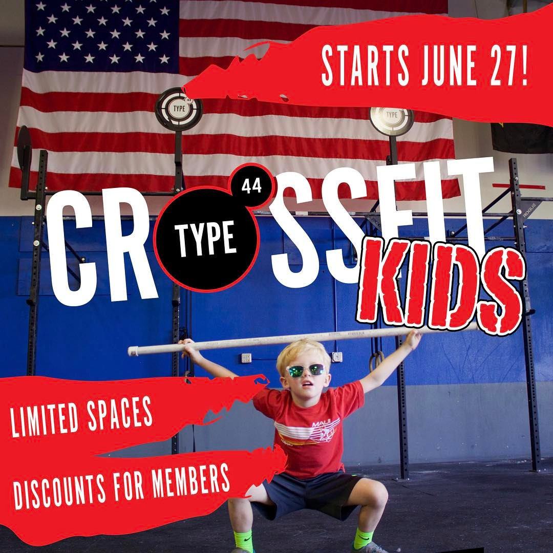 Mark those calendars! Join us starting June 27th, Tuesday's and Thursday's from 3-4 for CrossFit Kids!