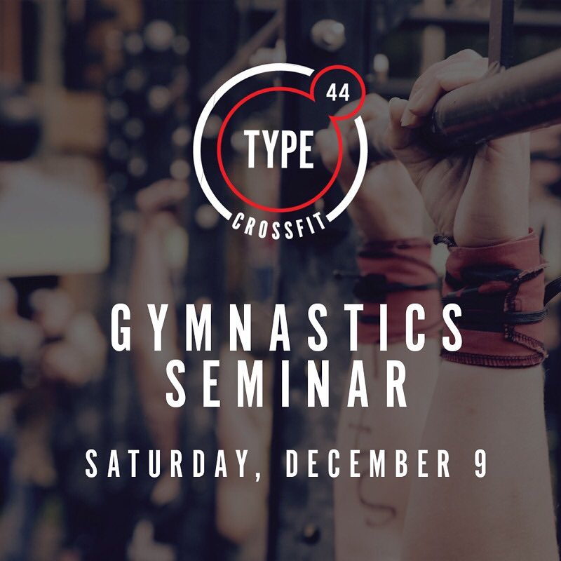 Interested in learning how to improve your Butterfly Pull-Ups and Handstand skills? SAVE THE DATE! Our next Gymnastics Seminar is December 9th!