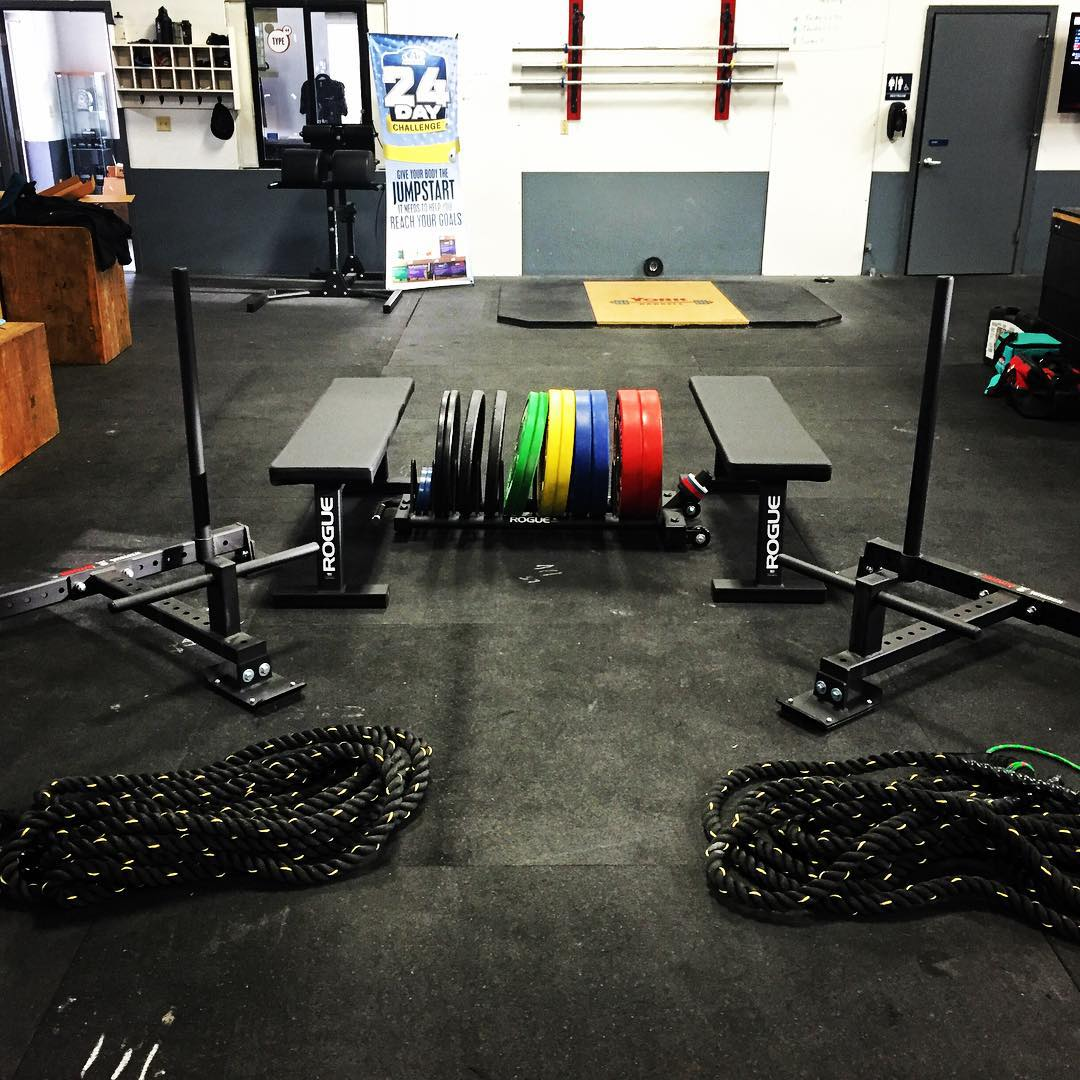 New Sleds, Battle Ropes, Benches and Storage Rack for the Comp. Plates!