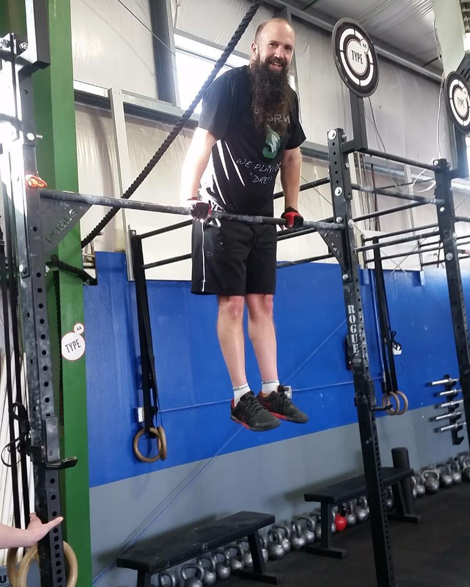 First bar muscle up ✔️ Good job Mike!  #crossfittype44 #type44 #crossfit