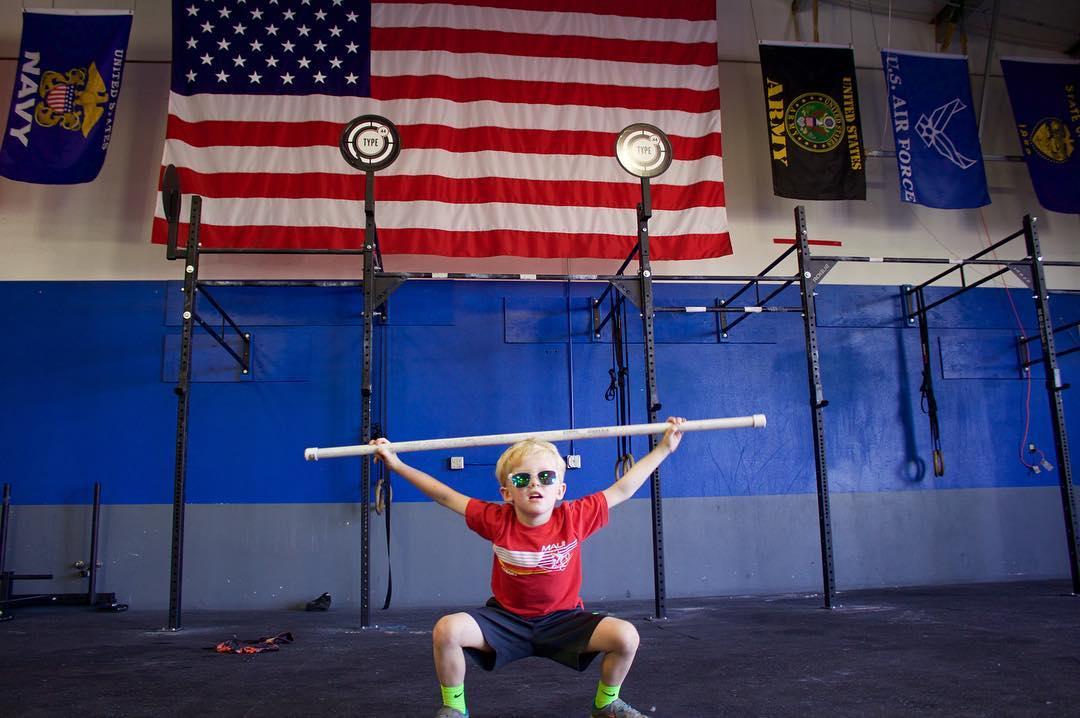 Jonah is CrossFit Kids ready!  #crossfitkids #crossfit #type44 #baller