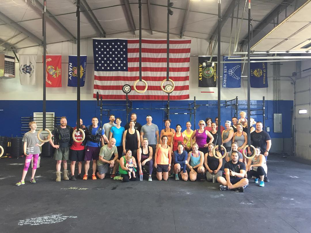 Memorial Day Murph at CFT44 🇺🇸 #crossfit #murph #fitaid #type44 #herowod #bend #centraloregon