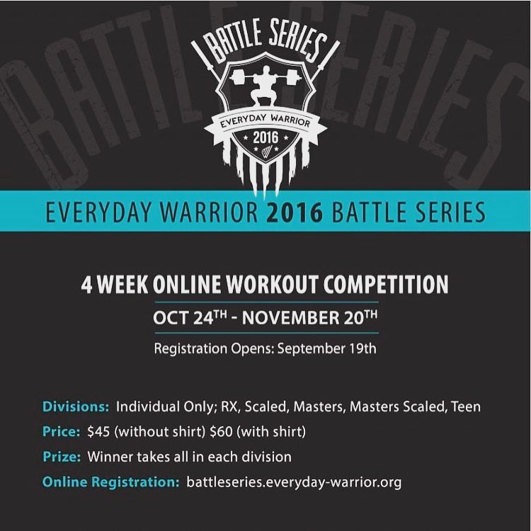 Type 44 will be participating in the Everyday Warrior Battle Series. Everyday Warrior raises money for CrossFitters fighting Cancer. We will be doing the workouts in class on TUESDAYS each week, by coming to class you will have the opportunity to participate!Please consider registering to show your support!  #everydaywarrior #crossfit #type44 #type44strong