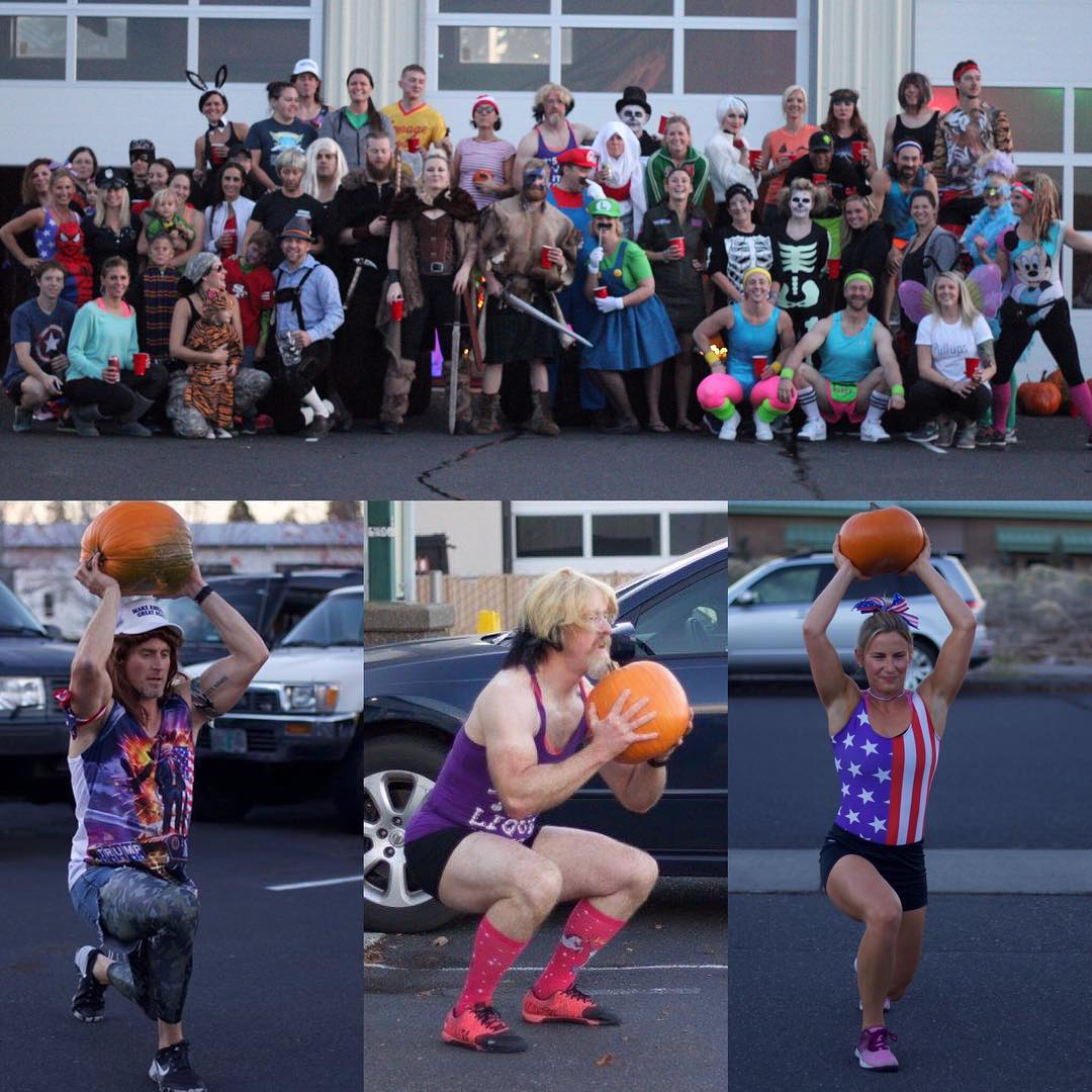 Happy Halloween Type 44! 🕷👻🎃💀 … … … 📸: @trennamoody … … #crossfit #inbend #type44 #centraloregon #type44strong #reebok #wod #halloween