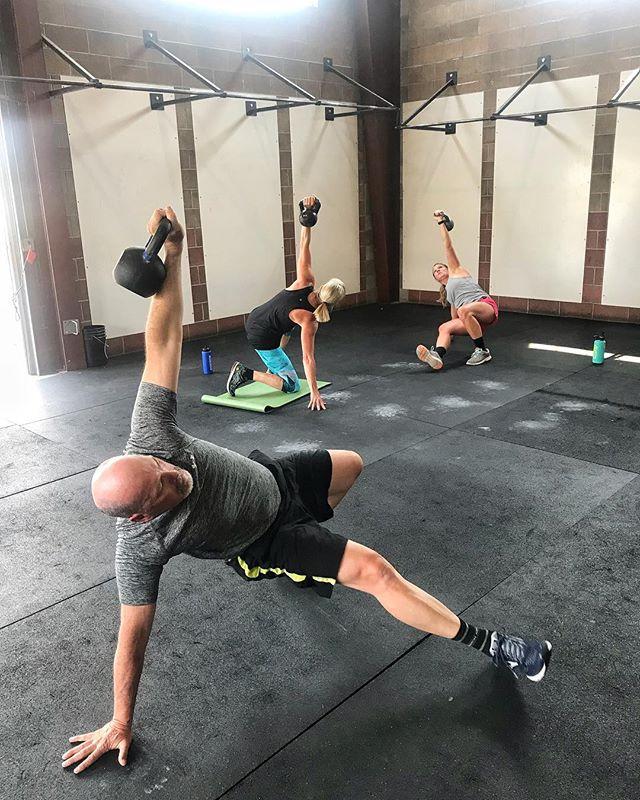 Among other basic movements, we practice Turkish get-ups, aka Zombie training  You're welcome.