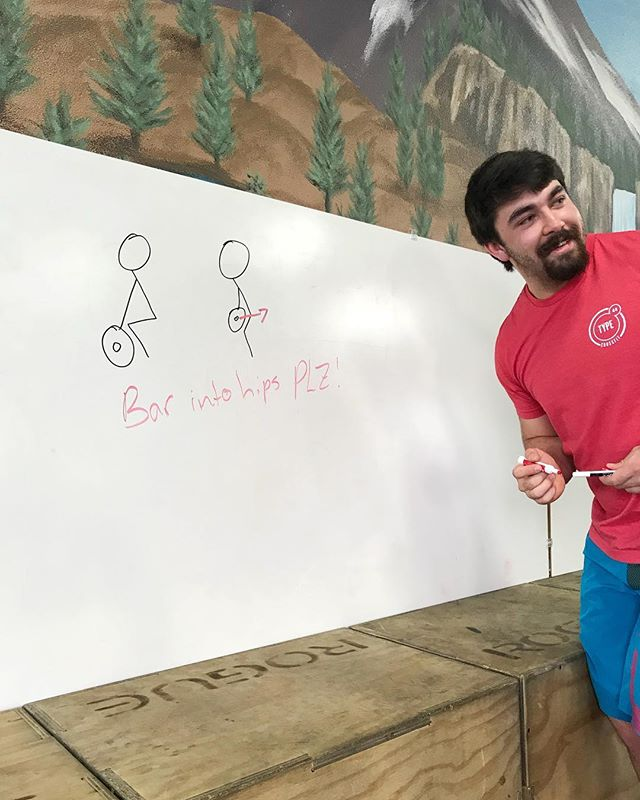 Tips from our Olympic lifting coach, complete with hand drawn diagram