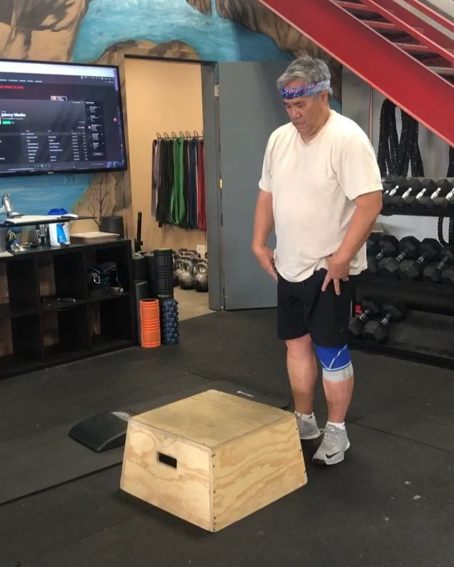 It can be done.  You CAN do the thing that others might tell you you're too old, too out of shape, too fragile for. Don't believe them. Believe in yourself. Huge congrats to Clinton who did his first box jump. And then did 39 more💪  @crossfitaffiliates  @crossfit