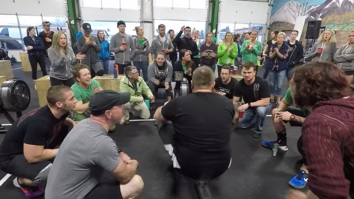 Throwin' it back to our favorite moment when stood behind every single athlete. ⁣ ⁣ 18 days until the first Friday Night Lights of the 2019 CrossFit Open. ⁣ ⁣ Are you registered?!