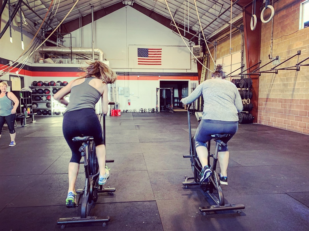 Nothing like finishing a workout with an @assaultairbike sprint race against your friend #3.2.1GO